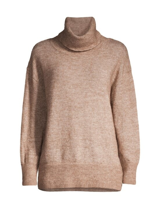 cut & pret - Skylar Loose Rolled Collar -pooloneule - TAUPE MELANGE | Stockmann - photo 1