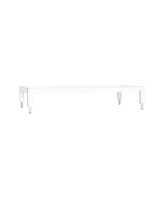 Lundia - Lofty-sänky 102,5 x 40 x 209,5 cm + patja - WHITE LAMINATE/BIRCH/GREY METAL | Stockmann - photo 1