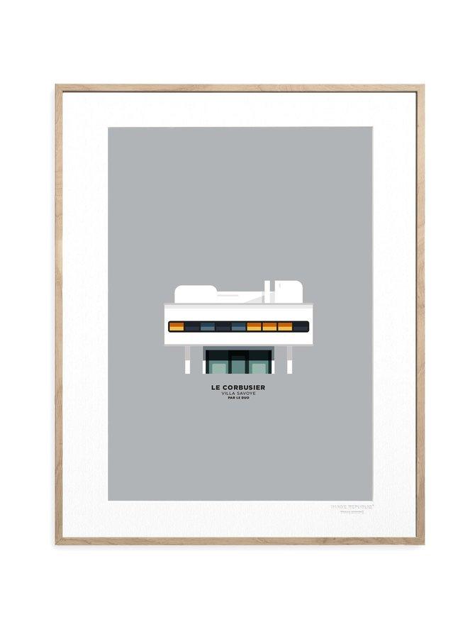 Le Duo Corbusier Archi -juliste 30 x 40 cm