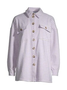 Noisy may - NMSTANNY FLANNY L/S LONG SHAKET -pusero - PASTEL LILAC CHECKS:PRISTINE HOUNDSTOOTH | Stockmann