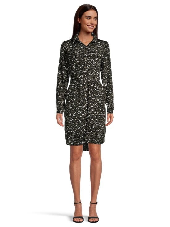 Vila - ViWam LS Shirt Dress -mekko - FOREST NIGHT AOP:W. KANTINA PRINT | Stockmann - photo 2