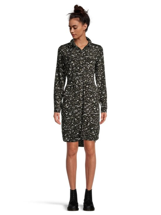 Vila - ViWam LS Shirt Dress -mekko - FOREST NIGHT AOP:W. KANTINA PRINT | Stockmann - photo 3