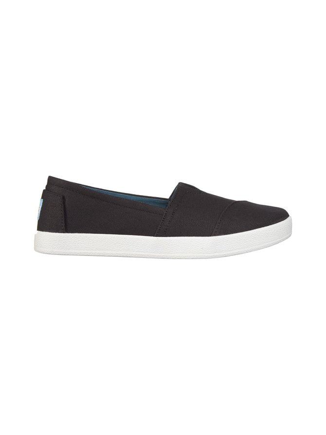 Black Coated Canvas Avalon Slip-On -kengät