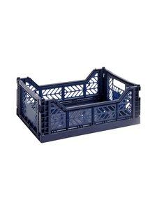 HAY - Colour Crate S -laatikko 26,5 x 17 x 10,5 cm - NAVY | Stockmann