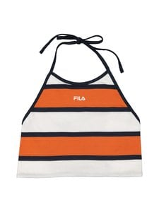 Fila - Malha Striped Halter Neck -toppi - A659 HARVEST PUMPKIN-BRIGHT WHITE - BLACK IRIS | Stockmann