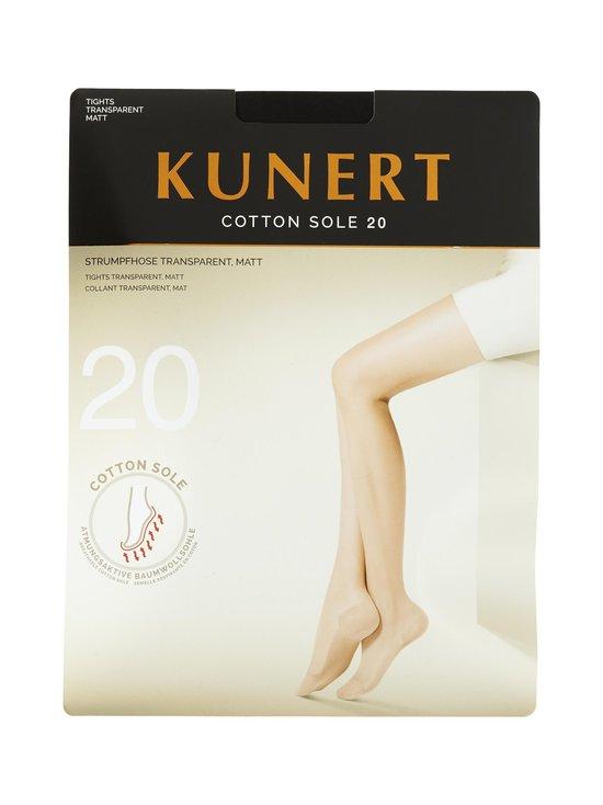 Kunert - Cotton Sole 20 den -sukkahousut - BLACK | Stockmann - photo 1
