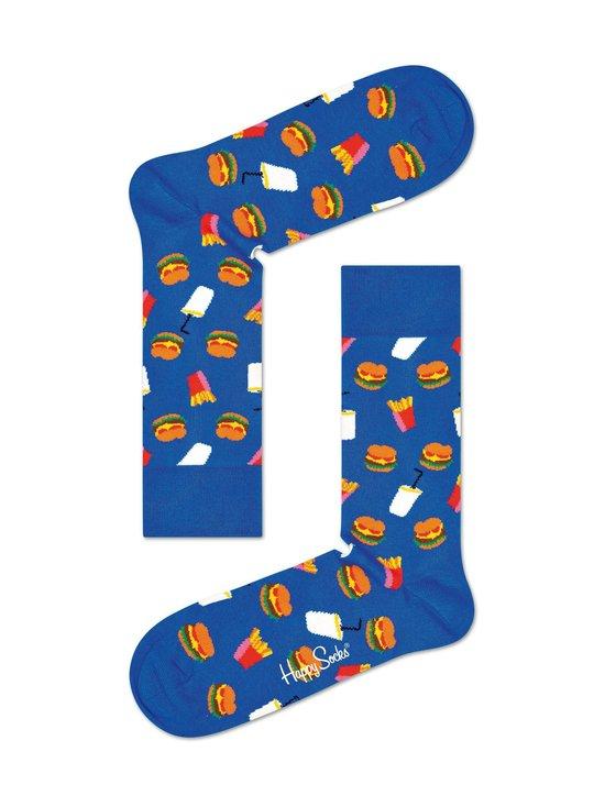 Happy Socks - Hamburger-sukat - 6300-BLUE   Stockmann - photo 1