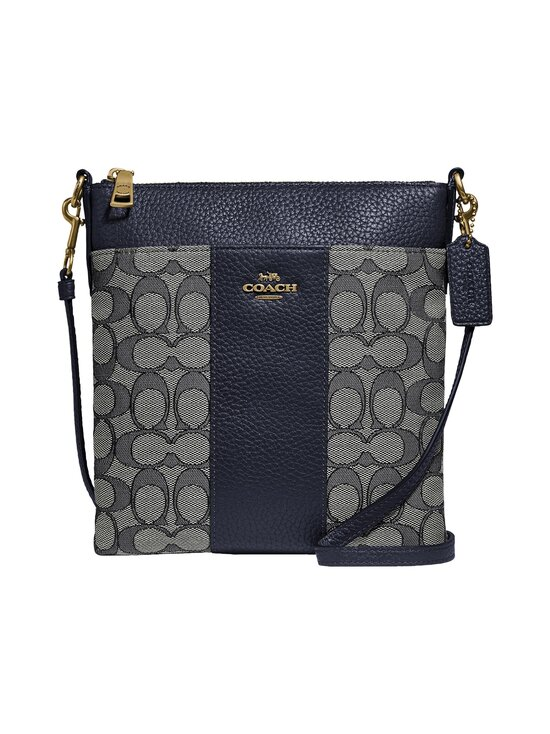 Coach - Kitt Messenger Crossbody In Signature Jacquard -laukku - B4RH3 B4/NAVY MIDNIGHT NAVY | Stockmann - photo 1