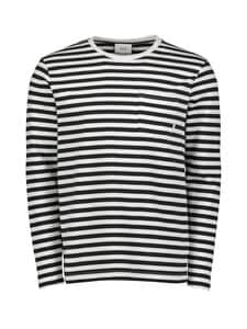 Makia - Verkstad Long Sleeve -paita - 998 BLACK-WHITE | Stockmann