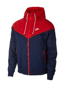 Nike - Sportswear Windrunner -takki - 410 MIDNIGHT NAVY/UNIVERSITY RED/WHITE | Stockmann