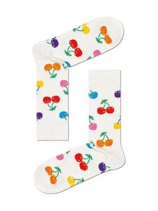 Happy Socks - Cherry-sukat - 1400-WHITE | Stockmann