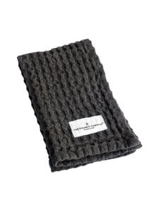 The Organic Company - Big Waffle Kitchen and Wash Cloth -pyyhe 25 x 40 cm - DARK GREY (TUMMANHARMAA) | Stockmann