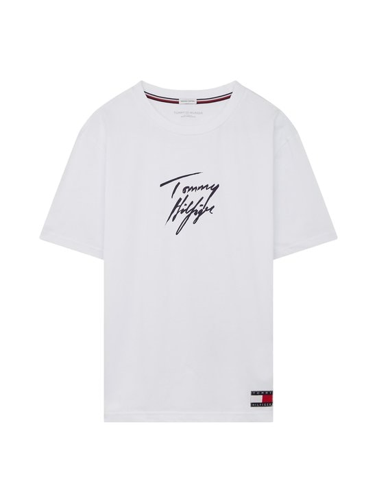 Tommy Hilfiger - Towelling Logo Lounge Tee -paita - YCD PVH CLASSIC WHITE | Stockmann - photo 1