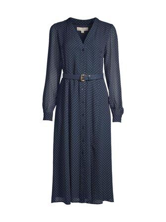 MS18Y461BU Dress dot Michael Michael Kors  482 MDNTBL/WHT XL - Michael Michael Kors