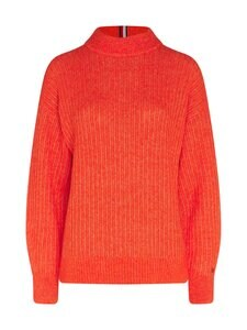 Tommy Hilfiger - Textured Stitch Mock-Neck Sweater -villasekoiteneule - SNF OXIDIZED ORANGE | Stockmann