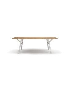 Hakola - Woody-saarnipöytä 220 x 90 cm - SAARNI/VALKOINEN | Stockmann