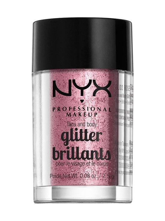 NYX Professional Makeup - Face & Body Glitter -kimalle kasvoille ja vartalolle - 02 ROSE | Stockmann - photo 1