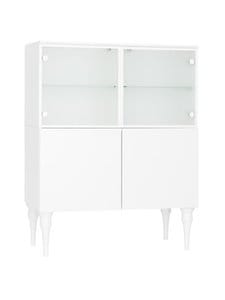 Lundia - Fuuga-vitriini 35 x 132 x 128 cm - WHITE PAINTED MDF/GLASS | Stockmann