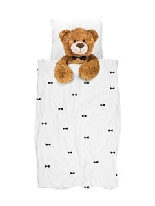 Snurk - Teddy-pussilakanasetti 150 x 210 + 50 x 60 cm - WHITE | Stockmann
