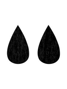 Uhana - Drop Stud Classics -korvakorut - BLACK | Stockmann