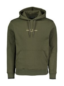 Fred Perry - Graphic Hooded -huppari - 408 HUNTING GREEN | Stockmann