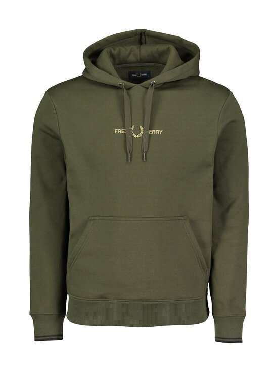 Fred Perry - Graphic Hooded -huppari - 408 HUNTING GREEN | Stockmann - photo 1