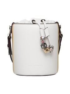 Karl Lagerfeld - K/Charms Stripes Small Bucket  -laukku - A100 WHITE   Stockmann