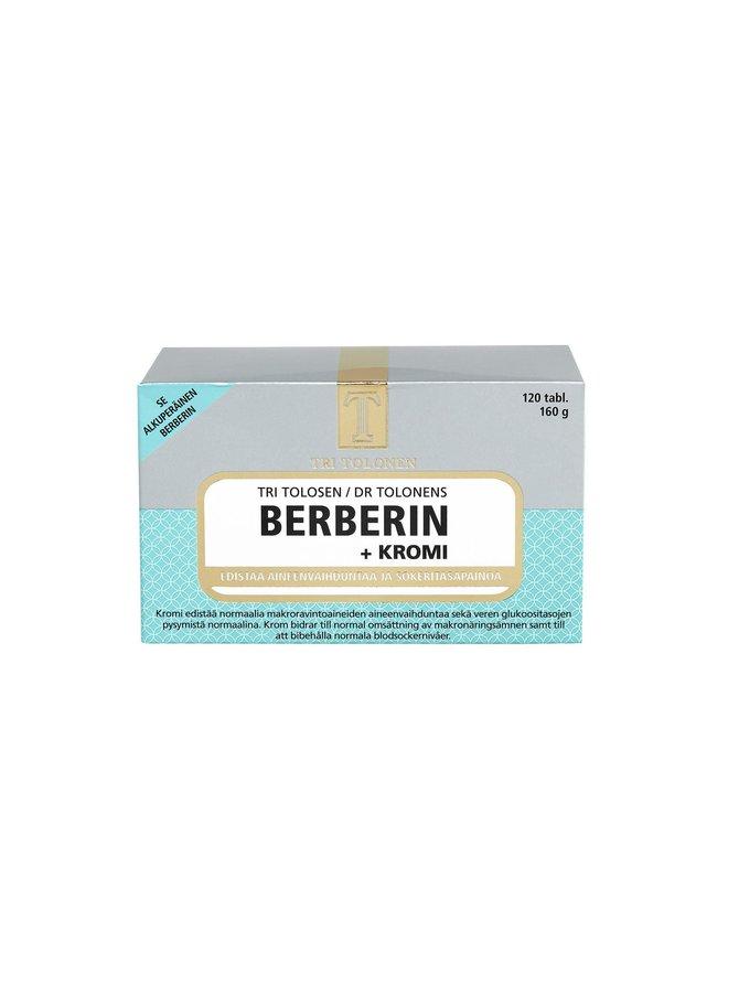 Berberin + Kromi -ravintolisä 120 tabl./160 g