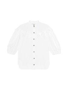 Ganni - Cotton Polin Blouse -pusero - BRIGHT WHITE | Stockmann