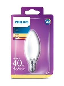 Philips - LED Classic 4,3 W B35 E14 -kynttilälamppu - WHITE | Stockmann