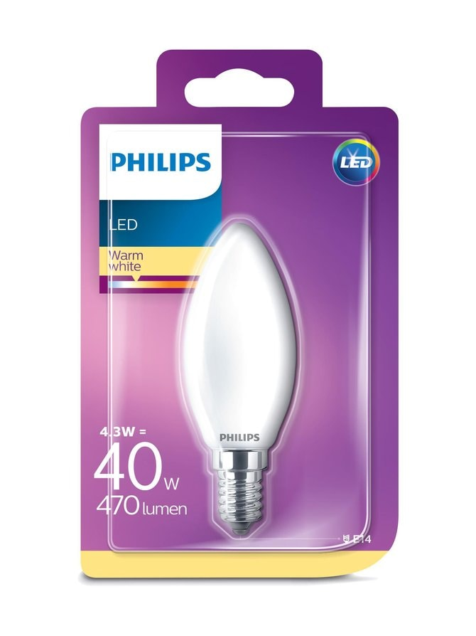 LED Classic 4,3 W B35 E14 -kynttilälamppu