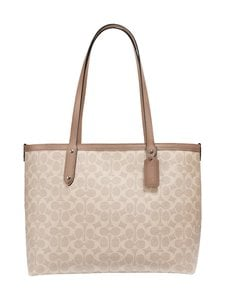 Coach - Central Tote With Zip In Signature Canvas -laukku - LH/SAND TAUPE   Stockmann