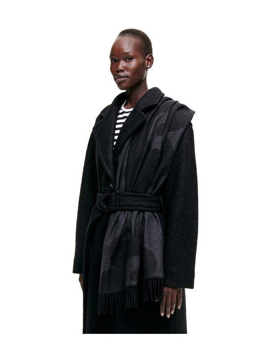 Marimekko - Sue Jacquard Juhla-Unikko -villahuivi - 099 BLACK, GREY | Stockmann - photo 2