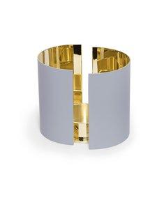 Skultuna - Infinity Candleholder, Large -kynttilälyhty 10 cm - GREY/BRASS | Stockmann