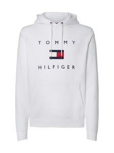 Tommy Hilfiger - Flag Logo Cotton Blend Hoody -huppari - YBR WHITE | Stockmann