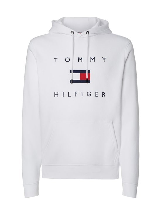 Tommy Hilfiger - Flag Logo Cotton Blend Hoody -huppari - YBR WHITE   Stockmann - photo 1