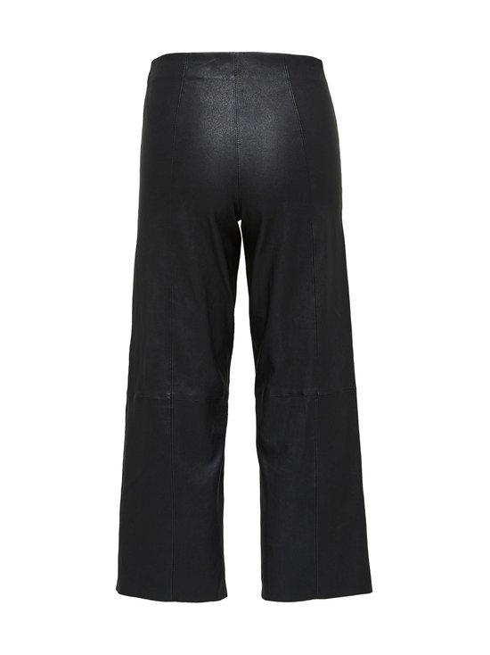 Selected - SlfAnna Crop Wide Strech Leather Pant -nahkahousut - BLACK | Stockmann - photo 2