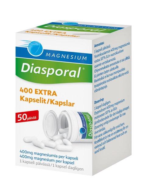Diasporal Magnesium 400 Extra -kapseli 50 kpl