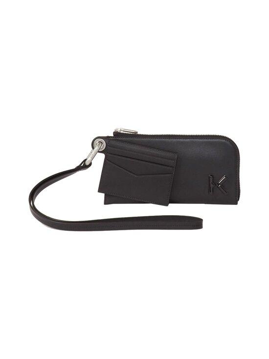 K Zipped Leather Wallet with Wrist Strap -nahkalompakko