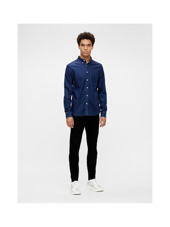 J.Lindeberg - Indigo Soft Stretch Slim Shirt -kauluspaita - 6194 MID BLUE | Stockmann - photo 3