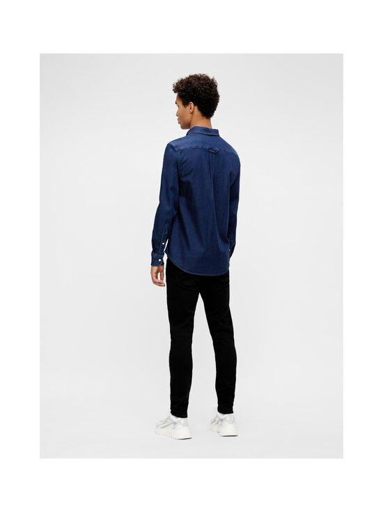 J.Lindeberg - Indigo Soft Stretch Slim Shirt -kauluspaita - 6194 MID BLUE | Stockmann - photo 4