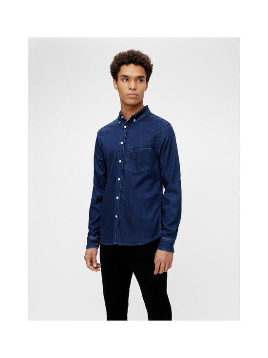 J.Lindeberg - Indigo Soft Stretch Slim Shirt -kauluspaita - 6194 MID BLUE | Stockmann - photo 5