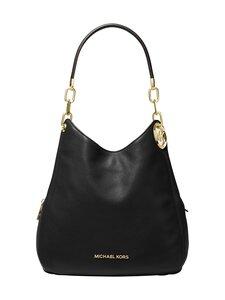 Michael Michael Kors - Lillie Large Pebbled Leather Shoulder Bag -nahkalaukku - 001 BLACK | Stockmann