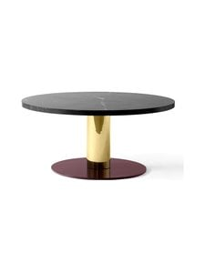 &tradition - Mezcla JH20 -pöytä 80 x 40 cm - NERO MARQUINA / BRASS / BURGUNDY   Stockmann