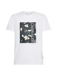 Calvin Klein Menswear - Flower Box Print T-shirt -paita - YAF BRIGHT WHITE | Stockmann