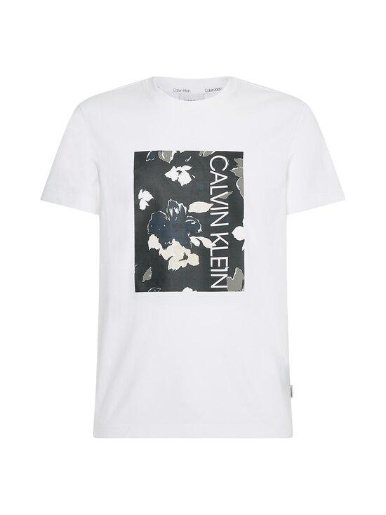 Calvin Klein Menswear - Flower Box Print T-shirt -paita - YAF BRIGHT WHITE | Stockmann - photo 1