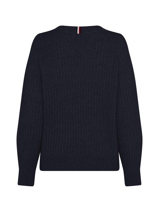 Tommy Hilfiger Curve - Textured Stitch V-Neck Sweater -villasekoiteneule - DW5 DESERT SKY | Stockmann - photo 2