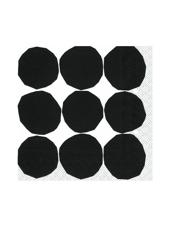 Marimekko - Kivet-servetti 25 x 25 cm - MUSTAVALKOINEN | Stockmann - photo 1