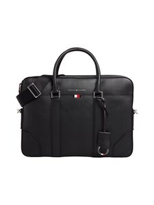 Tommy Hilfiger - Business Leather Slim Computer Bag -nahkalaukku - BDS BLACK | Stockmann