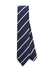 Tommy Hilfiger Tailored - Stripe Pocket Tie -solmio - 0GZ NAVY/WHITE | Stockmann